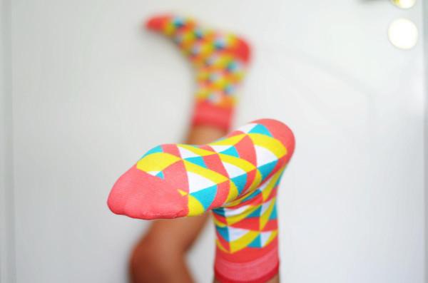 Модные цветные мужские и женские носки Sammy Icon