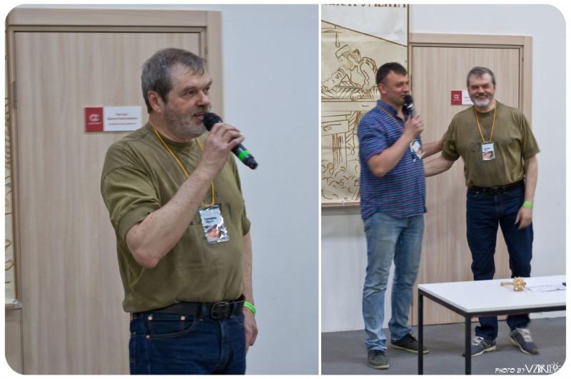 Юрий Столяров.                                                                               Сергей Гололобов и Юрий Столяров.