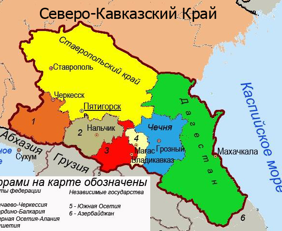 geography caucasus region