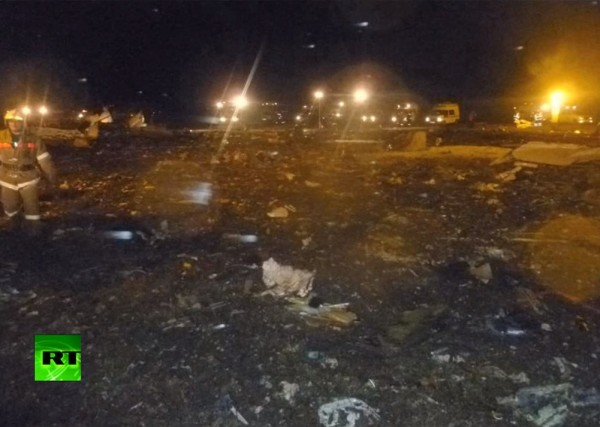 место крушения самолета Boeing 737 в Казани