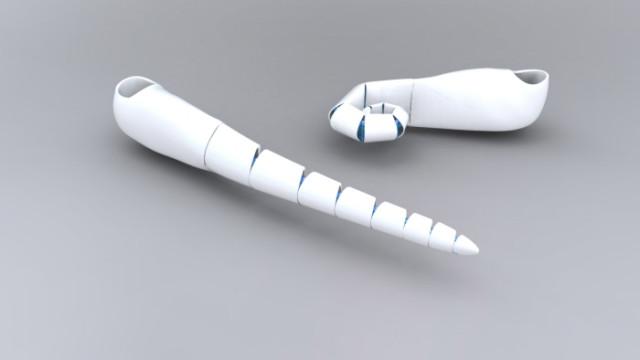 Протез - щупальце, снятый