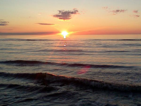 Закат на берегу Белого моря