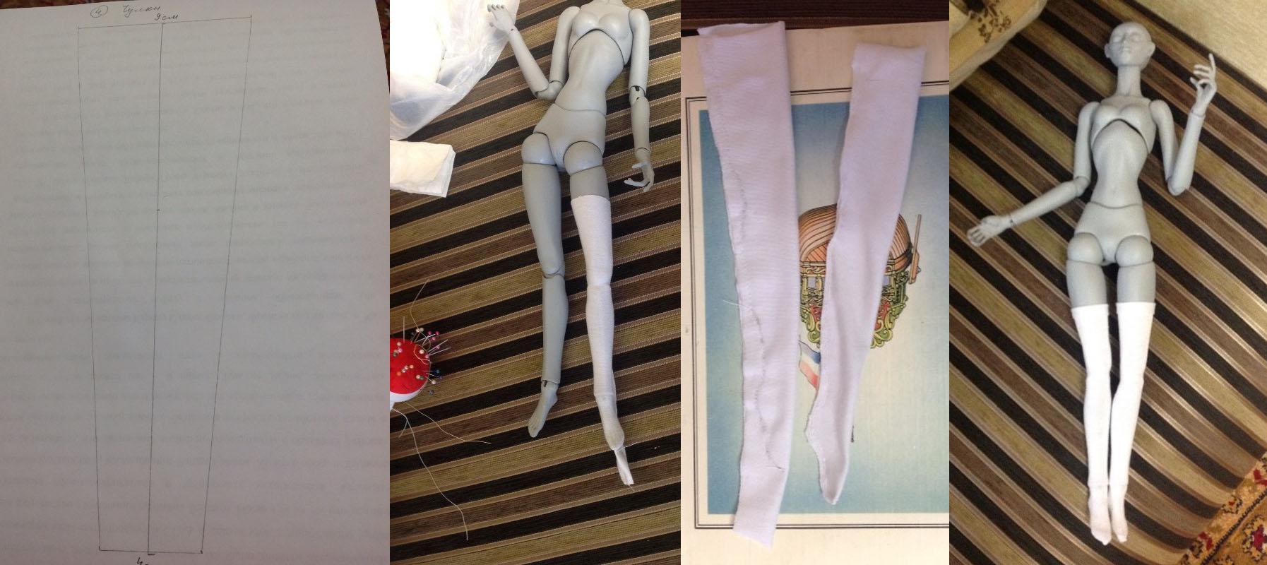 Как сшить платье для шарнирной куклы