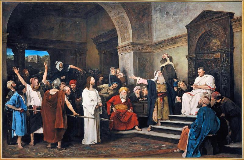 Христос перед Пилатом. Михай Либ Мункачи, 1881 год