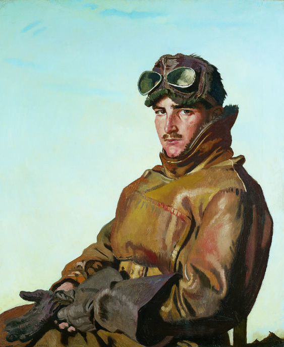 Портрет канадского аса (28 побед) лейтенанта Реджинальда Хойджа