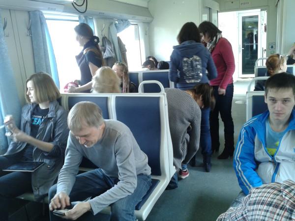 Билет я брала на сидячий поезд 810,ибо сапсан стоит под 6000 в.
