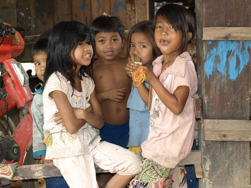 Дети в одной из деревень :)