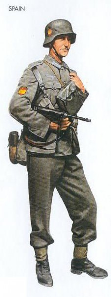 Spain - 1942 June, Ukraine, Infantryman, Spanish Blue Division