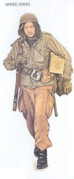 US - 1944 Nov., Belgium, Private, 101st Airborne Division