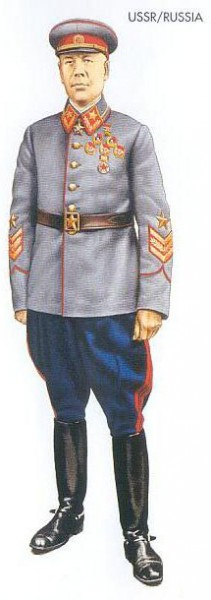USSR - 1940 June, Moscow, Marshal of the Soviet Union, Kiev Military District