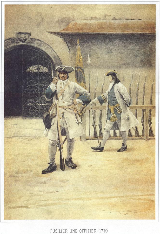 004 - Фузилер и офицер 1710