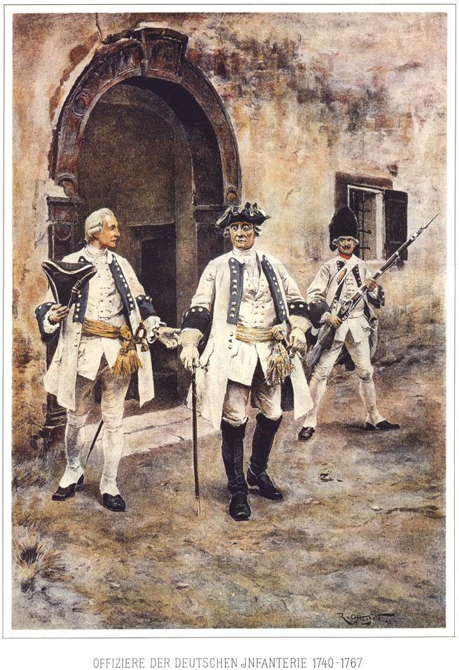 010 - Офицеры немецкой пехоты 1740-1767