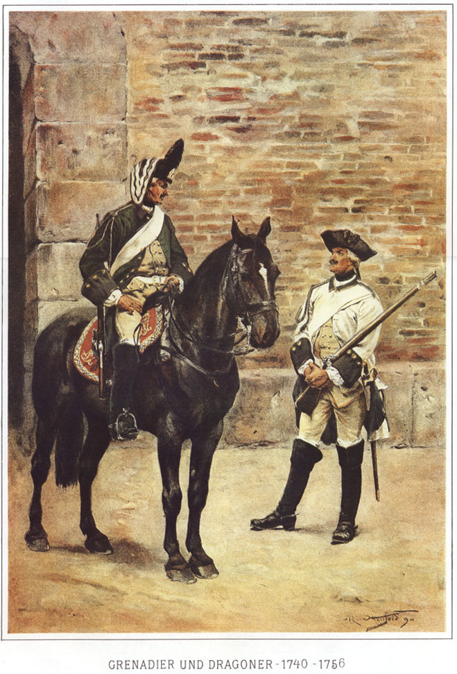 012 - Гренадер и драгун 1740-1756
