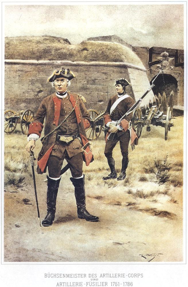 015 - Мастеровой артиллерийского корпуса и артиллерист-фузилер 1751-1786