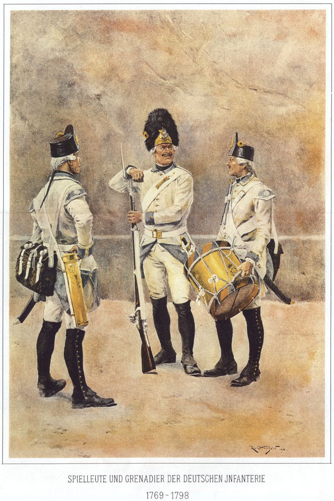 023 - Музыканты и гренадер немецкой пехоты 1769-1798