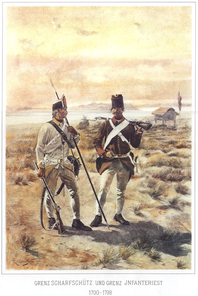 025 - Стрелок-граничар и пехотитнец-граничар 1700-1798