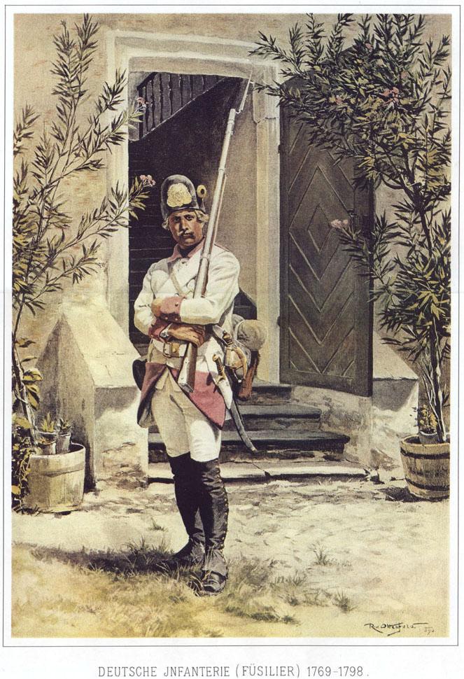 026 - Фузилер немецкой пехоты 1769-1798