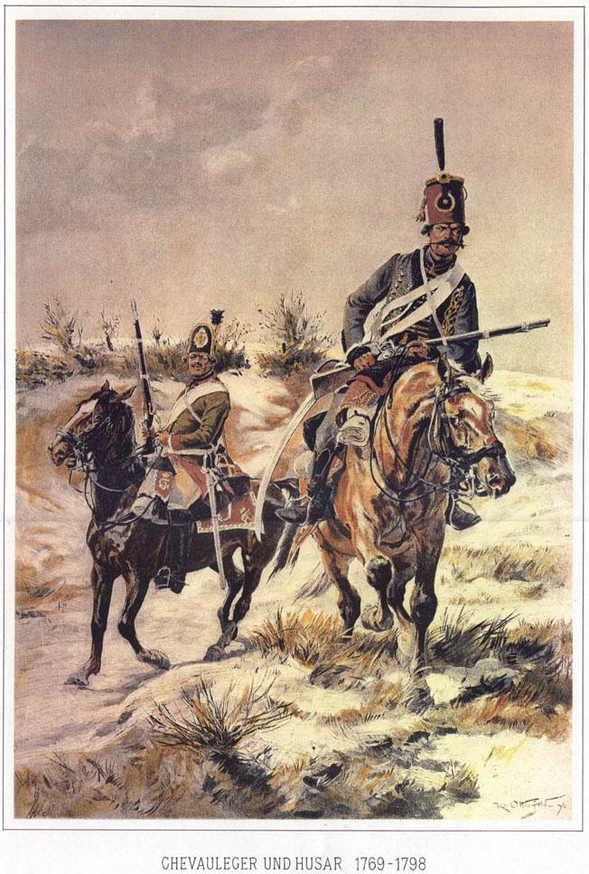 027 - Шволежер и гусар 1769-1798