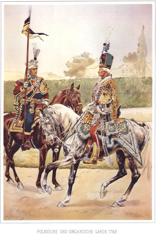 029 - Польская и венгерская Гвардия 1782