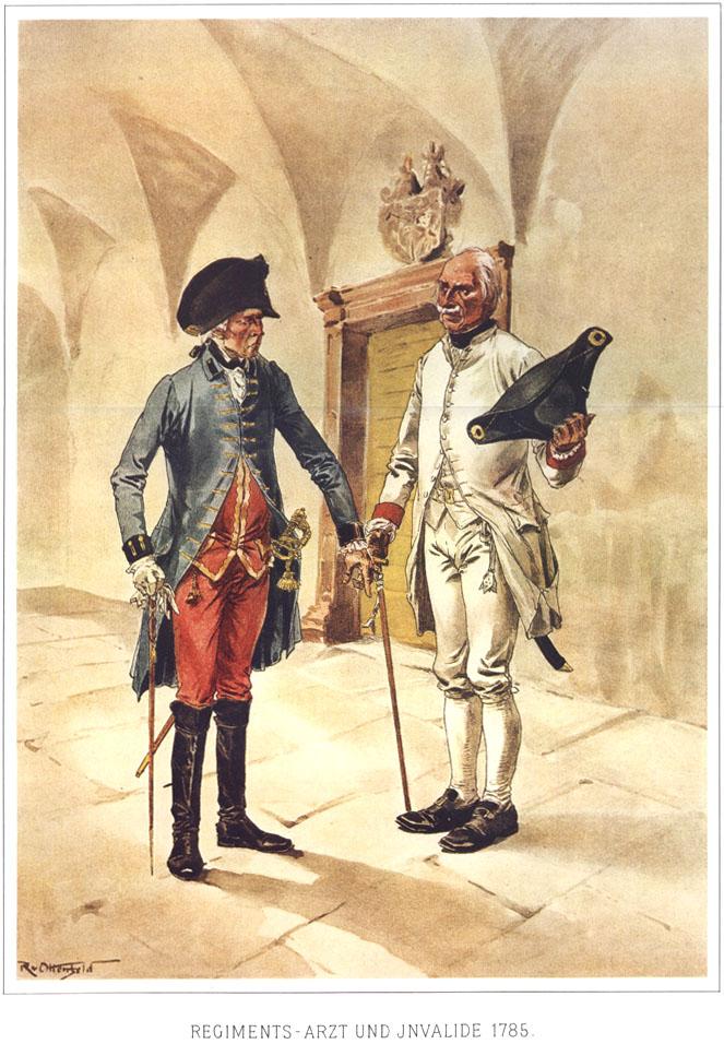 030 - Полковой хирург и инвалид 1785