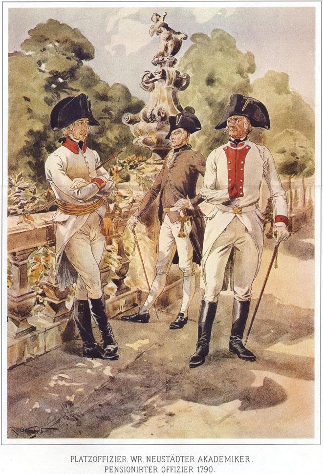 031 - Платц-офицер, учащийся Академии в Винер-Нойштадт и офицер-пенсионер 1790