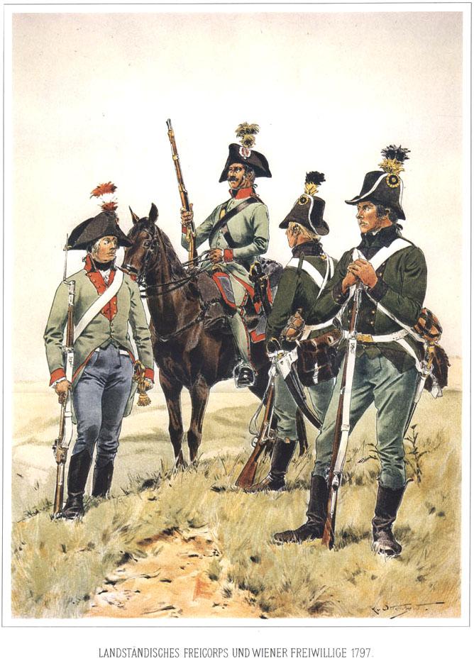 034 - Добровольческий корпус и Венские добровольцы 1797
