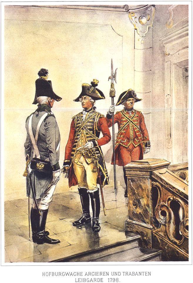 035 - Гвардия Хофбурга, Арцирен - и Трабантен Лейб-гвардия 1798
