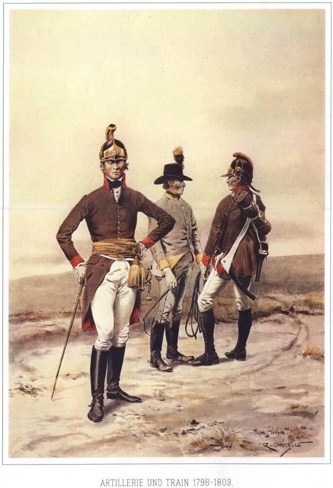 042 - Артиллеристы и ездовой обоза 1798-1803