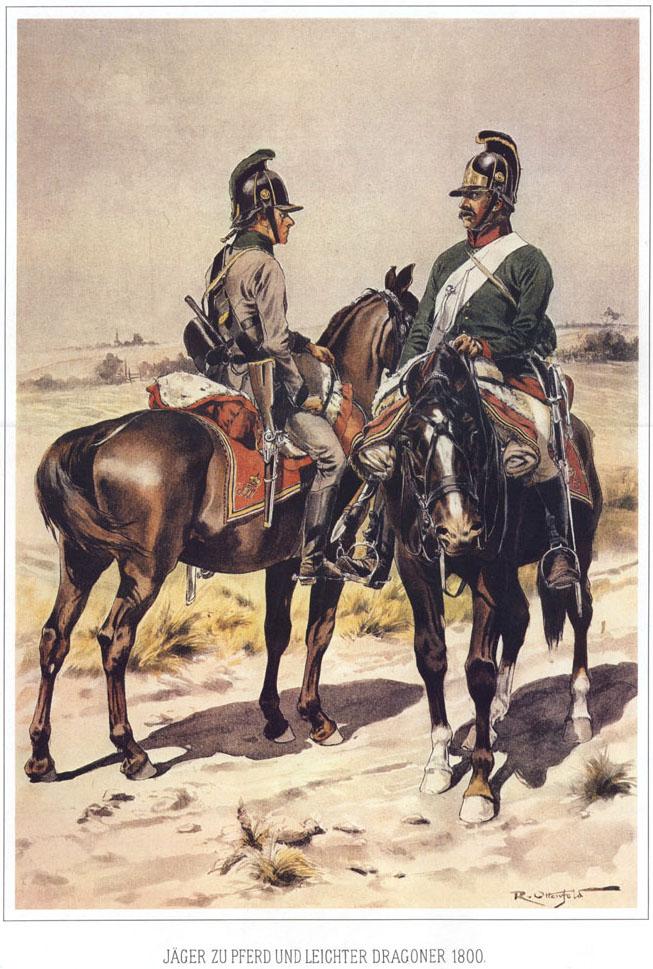 047 - Конный егерь и легкий драгун 1800