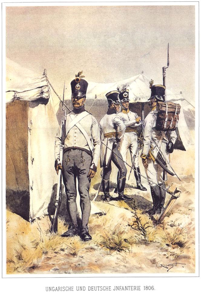 049 - Венгерские и немецкие пехотинцы 1806
