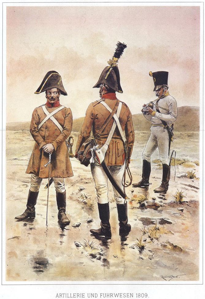 052 - Артиллеристы и извозчик 1809