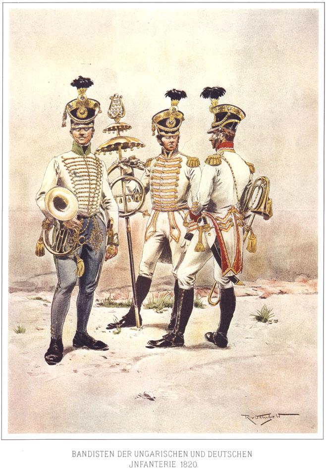 060 - Оркестранты немецкой и венгерской пехоты 1820