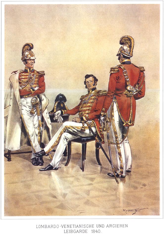 062 - Ломбардо-венецианская и Арцирен Лейб-гвардия 1840