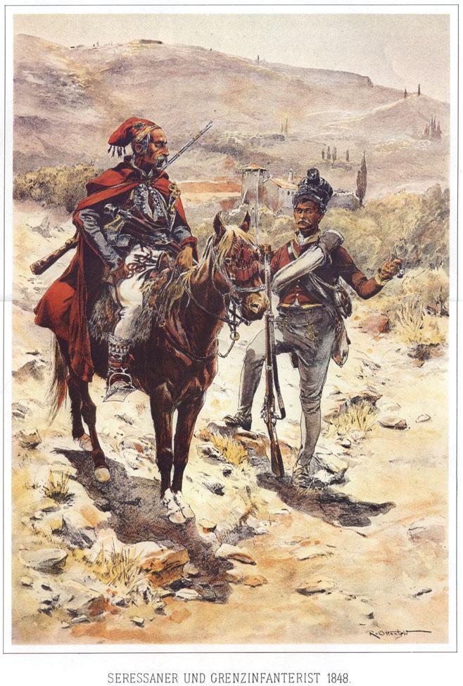 065 - Сережанер и пехотинец-граничар 1848