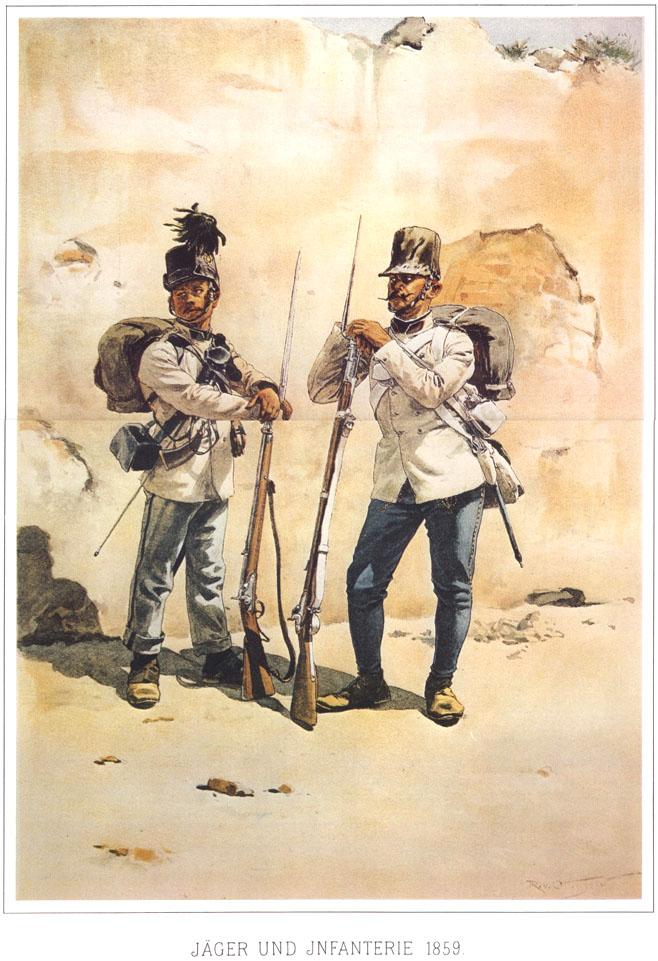 072 - Егерь и пехотинец 1859