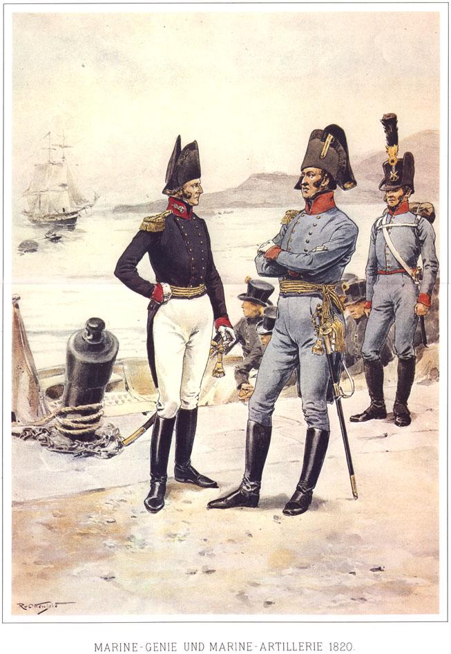 085 - Морской инженер и морской артиллерист 1820