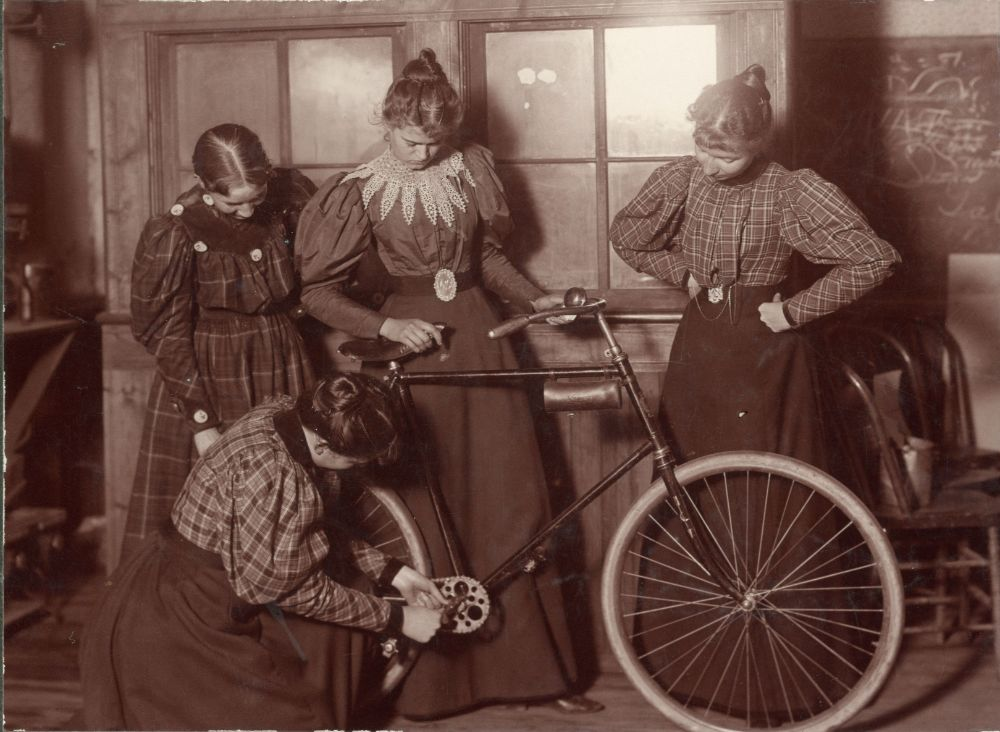 Girls and bicycles