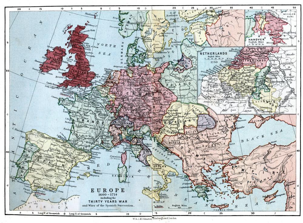 Европа в 1714 году