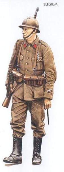 Belgium - 1940 May, Belgium, Sergeant, Belgian Army
