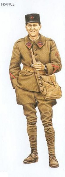 France - 1940 Apr., Flanders, Private First Class, 182nd Art. Regiment