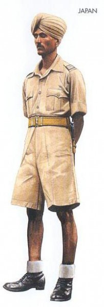 Japan - 1942 Sep., Malaysia, Senior NCO, Indian Nationalist Army