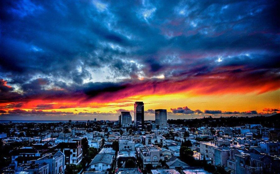 sunset_santa_monica_wallpaper