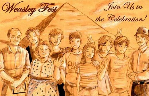 Image result for the weasley family fanart
