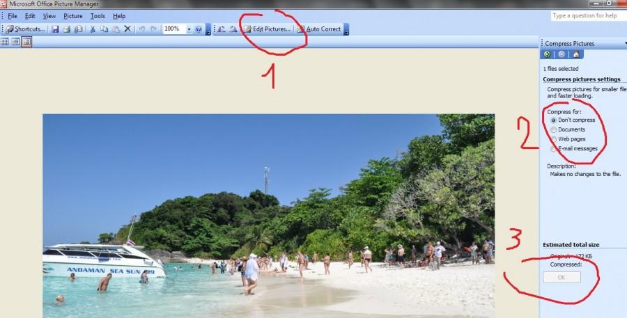 Минимальная обработка картинок для интернет сайтов