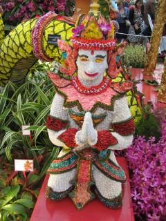 Thai floral sculpture