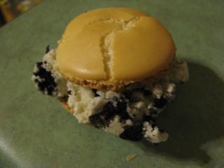 Macaroon with ice cream
