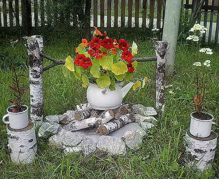 Идеи красивого сада своими руками фото