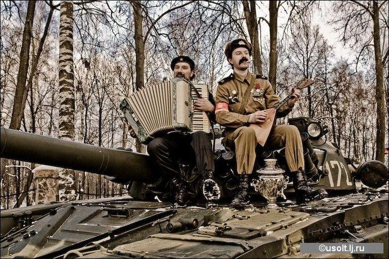русские на танки