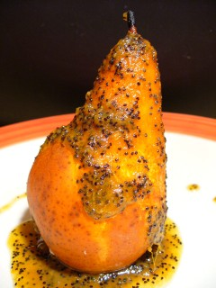 Persimmon  Poppy Seed Sauce for Poached Pears