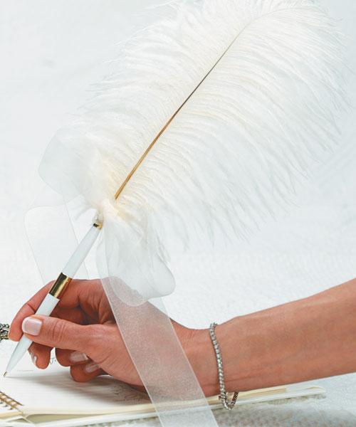 Как сделать ручку на свадьбу своими руками